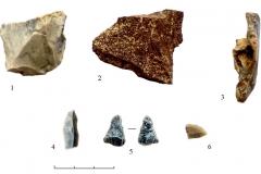Рис.-16.-Раскоп-2-«Алгай».-Каменные-предметы-из-верхнего-уровня-культурного-слоя