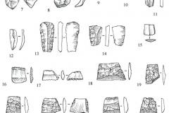 Рис.-18.-Раскоп-2-«Алгай».-Каменные-предметы-из-верхнего-и-нижнего-уровней-культурного-слоя