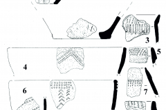 Рис. 2. Поселение Бессергеневка. 1-10 – керамика мариупольского типа