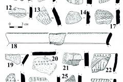 Рис. 6. Поселение Бессергеневка. 1-29 – керамика константиновской культуры