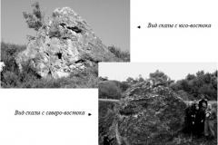 Рис. 1. Скала органогенного выщелоченного известняка (к востоку от моста через р. Сев. Сосновку)