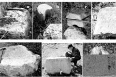 Рис. 22. Примеры обработанных блоков песчаника и известняка (снимки 2006-2008 гг.)