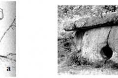Рис. 23. Дольмены Кавказа: a – составной дольмен у р. Жане; b – составной дольмен в Сочи из Лазоревского