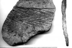 Рис. 7. Бечевник с. Сосновка. Фрагмент керамики энеолита (ранняя бронза?)