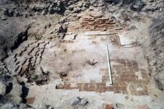 Рис. 4. Царёвщинский мавзолей. Остатки склепа. Вид с востока