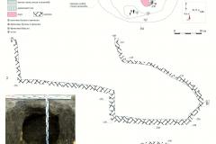 Рис. 5. Курган 1 у пос. Виноградный. Погребение 1, план и разрезы
