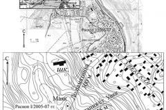Рис. 1. План расположения северо-западного некрополя Увекского горо-дища
