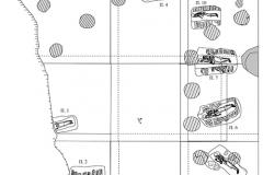 Рис. 2. План раскопанного участка северо-западного некрополя Увекского городища (раскоп 1/2005-2007)