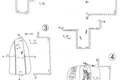 Рис. 3. Северо-западный некрополь Увекского городища. Планы и разрезы погребений № 1-4
