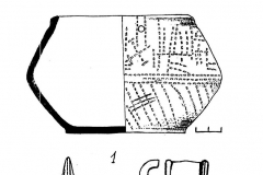 Рис. 9. Вещи из погребения близ Карамыша (1- по К.В. Сальникову, 3 – по Е.Н. Черных) и баланбашский псалий (4) .