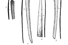 Рис. 3. Курганный могильник Чилгир, курган 6, погребение 1. Костяные накладки на сложносоставной лук (1-7)