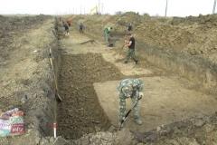 Раскоп на поселении Мерчанское 1.