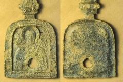 Медный образок из Самарского могильника.