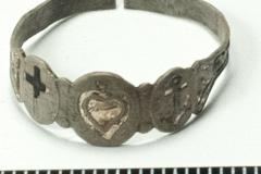 Серебряный перстень из Самарского могильника.
