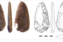 Рис. 12. Стоянка Непряхино, раскоп 2016 года. Горизонт К-IГ, наконечник бифасиальный №2183