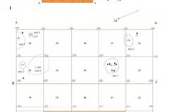 Рис. 12. Раскоп Алгай 1. 1– схема расположения квадратов по годам раскопок; 2 – дно раскопа 2017-2018 гг.
