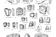 Рис. 17. Раскоп Алгай 1. Находки из стратиграфического горизонта 5 (слои 15, 16)