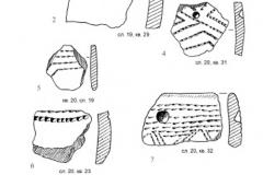 Рис. 20. Раскоп Алгай 1. Находки из стратиграфического горизонта 6 (слои 19, 20)