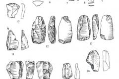 Рис. 40. Раскоп Алгай 1. Находки из слоя 29 (1-7), слоя 30 (8-10) и слоя 30, кв. 28 (11-20)