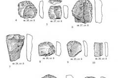 Рис. 6. Раскоп Орошаемое. Кварцитовые орудия из верхнего культурного слоя