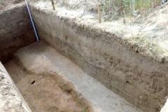 Рис. 9. Поселение Орошаемое, раскоп Алгай 1. Вид с северо-востока