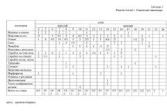Таблица 2. Раскоп Алгай 1. Каменный инвентарь