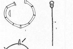 Рис. 9. Богатырка. Случайные находки на территории поселения: 1-2, 5 – бронза; 3-4 – железо