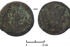 3.-Монета-Екатерины-II-1771-г.-из-раскопок-поселения