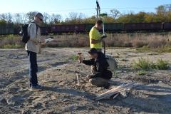 3. Разметка и разбивка сетки раскопа