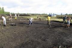Процесс работы на раскопе