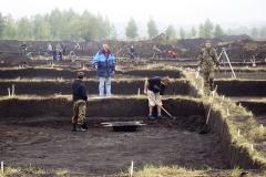 Рабочий момент на раскопе