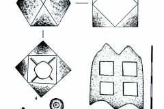 Рис. 13. Городище Никольевка (1-4, 7); Никольевка III (5-6, 8-9). Изделия из бронзы (1- 3, 5-6, 8) и железа (4, 7, 9)