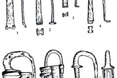 Рис. 19. Духовое. Изделия из железа (1-7)