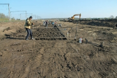 4. Раскопки на участке со снятым техногенным слоем