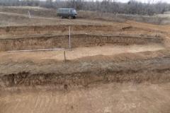 Раскопки кургана