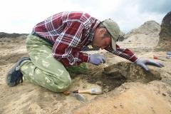 1. Расчистка археологической находки