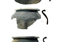 Рис. 6. Крупные фрагменты древнерусских глиняных горшков