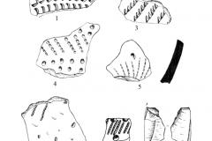 Рис. 22. Разнобрычка. Керамика из скопления в районе погребения (1-2)