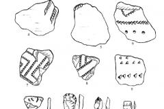 Рис. 4. Разнобрычка. Накольчатая керамика (1-10)