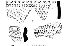 Рис. 8. Разнобрычка. Тычковая керамика (1-7)
