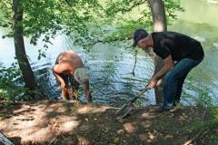 Зачистка береговой осыпи