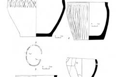 Рис. 6. Курганный могильник Репьевка 1. Находки из кургана 1. 1-5 – погребение 1; 6, 7 – погребение 2