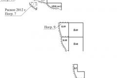 Рис. 3. Сабуровский могильник. План участков раскопа с погребениями