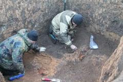 Исследования погребения эпохи поздней бронзы.