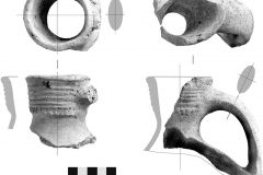 Рис. 8. Фрагменты верхних частей гончарных сосудов УВ06 Р1 160-180 03-04.