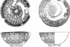 Рис. 9. Чаша УВ06 Р1 140-160 02. Кашин, двухсторонняя полива, штамповка (Увек, 2006 г.)