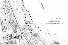 Рис. 2. Расположение участков разведки в акватории Волгоградского водохранилища (Увек, 2002 г.)