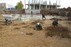 Спасательные археологические раскопки на строительном объекте