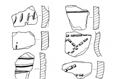 Рис. 15. Вольский район. Поселение Струино. Подъёмный материал и находки из шурфа.