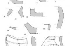 Рис. 10. Поселение Сухие Челбасы 18. Керамика из слоя. 1-9 – слой 1; 10-13, 17 – слой 2; 14-16, 18 – слой 3